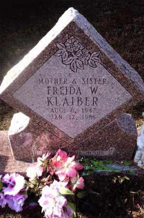 KLAIBER, FREIDA W. - Gallia County, Ohio | FREIDA W. KLAIBER - Ohio Gravestone Photos