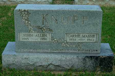 MASSIE KNOPP, CARRIE - Gallia County, Ohio | CARRIE MASSIE KNOPP - Ohio Gravestone Photos