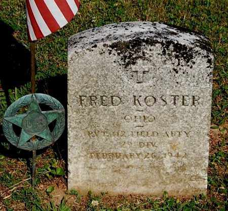 KOSTER, FRED - Gallia County, Ohio | FRED KOSTER - Ohio Gravestone Photos