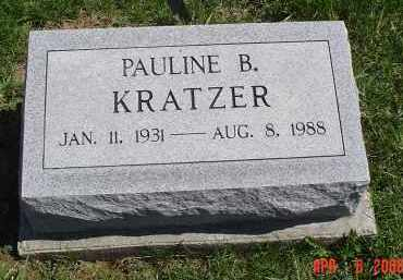 KRATZER, PAULINE B. - Gallia County, Ohio | PAULINE B. KRATZER - Ohio Gravestone Photos