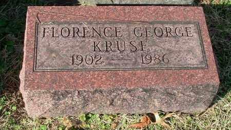 GEORGE KRUSE, FLORENCE - Gallia County, Ohio | FLORENCE GEORGE KRUSE - Ohio Gravestone Photos