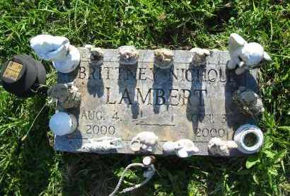 LAMBERT, BRITTNEY NICHOLE - Gallia County, Ohio | BRITTNEY NICHOLE LAMBERT - Ohio Gravestone Photos