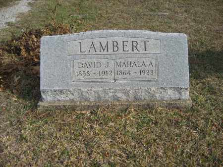 LAMBERT, DAVID J. - Gallia County, Ohio | DAVID J. LAMBERT - Ohio Gravestone Photos