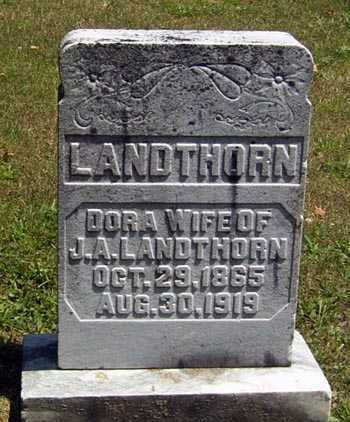 WEATHERHOLT LANDTHORN, DORA - Gallia County, Ohio | DORA WEATHERHOLT LANDTHORN - Ohio Gravestone Photos