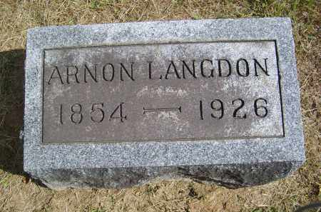 LANGDON, ARNON - Gallia County, Ohio | ARNON LANGDON - Ohio Gravestone Photos