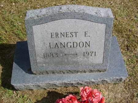 LANGDON, ERNEST - Gallia County, Ohio | ERNEST LANGDON - Ohio Gravestone Photos