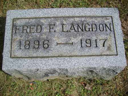 LANGDON, FRED - Gallia County, Ohio | FRED LANGDON - Ohio Gravestone Photos