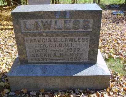 LAWLESS, FRANCIS - Gallia County, Ohio | FRANCIS LAWLESS - Ohio Gravestone Photos