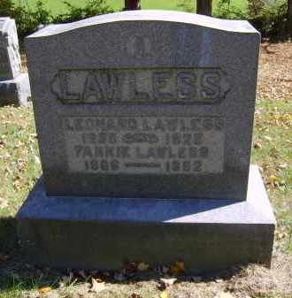 LAWLESS, FANNIE - Gallia County, Ohio | FANNIE LAWLESS - Ohio Gravestone Photos