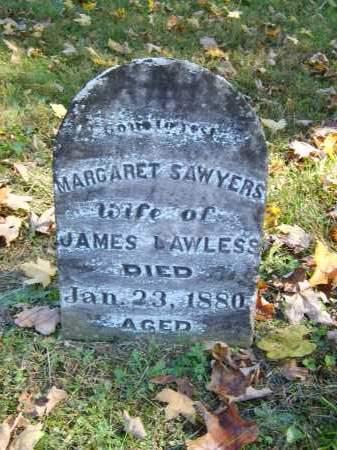 SAWYERS LAWLESS, MARGARET - Gallia County, Ohio | MARGARET SAWYERS LAWLESS - Ohio Gravestone Photos