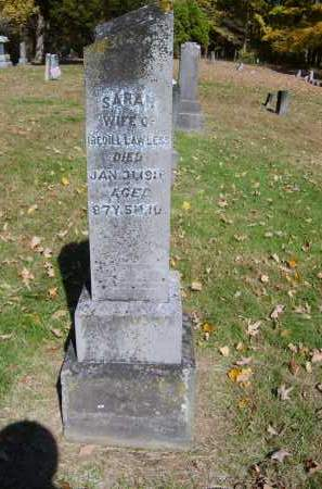 LAWLESS, SARAH - Gallia County, Ohio | SARAH LAWLESS - Ohio Gravestone Photos