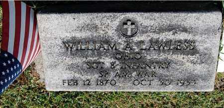 LAWLESS, WILLIAM A - Gallia County, Ohio | WILLIAM A LAWLESS - Ohio Gravestone Photos