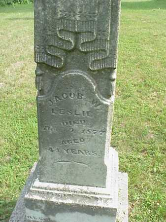 LESLIE, JACOB W. - Gallia County, Ohio | JACOB W. LESLIE - Ohio Gravestone Photos