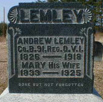 LEMLEY, ANDREW - Gallia County, Ohio | ANDREW LEMLEY - Ohio Gravestone Photos