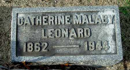 MALABY LEONARD, CATHERINE - Gallia County, Ohio | CATHERINE MALABY LEONARD - Ohio Gravestone Photos