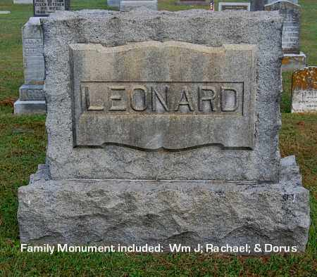 LEONARD, FAMILY MONUMENT - Gallia County, Ohio | FAMILY MONUMENT LEONARD - Ohio Gravestone Photos