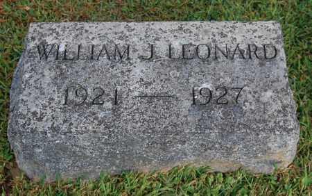 LEONARD, WILLIAM JAMES - Gallia County, Ohio | WILLIAM JAMES LEONARD - Ohio Gravestone Photos