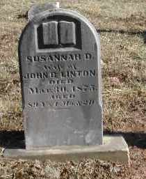 LINTON, SUSANNAH D. - Gallia County, Ohio | SUSANNAH D. LINTON - Ohio Gravestone Photos