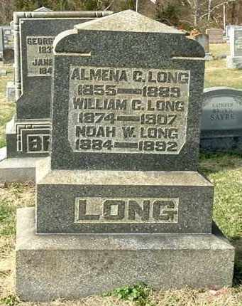 LONG, ALMENA C - Gallia County, Ohio | ALMENA C LONG - Ohio Gravestone Photos