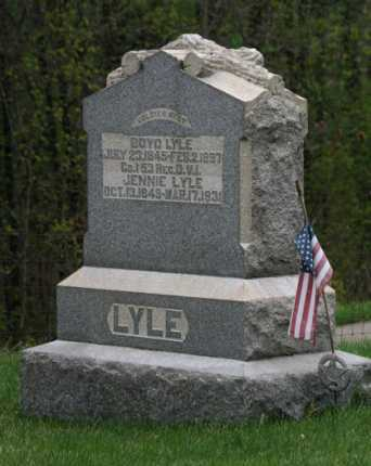 LYLE, JENNIE - Gallia County, Ohio | JENNIE LYLE - Ohio Gravestone Photos