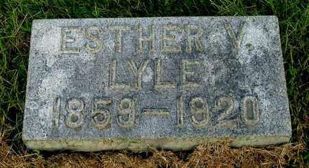 LYLE, ESTHER V - Gallia County, Ohio | ESTHER V LYLE - Ohio Gravestone Photos