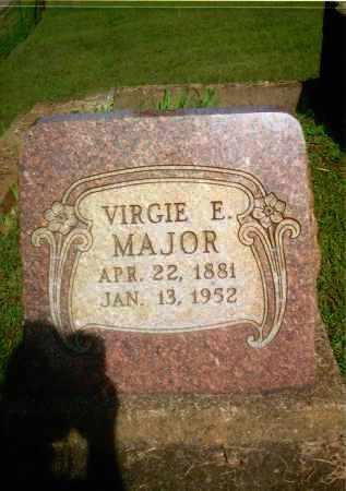 MAJOR, VIRGIE E. - Gallia County, Ohio | VIRGIE E. MAJOR - Ohio Gravestone Photos