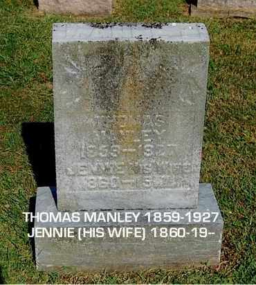 MANLEY, JENNIE - Gallia County, Ohio | JENNIE MANLEY - Ohio Gravestone Photos