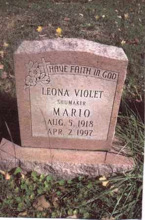 SHUMAKER MARIO, LEONA VIOLET - Gallia County, Ohio | LEONA VIOLET SHUMAKER MARIO - Ohio Gravestone Photos