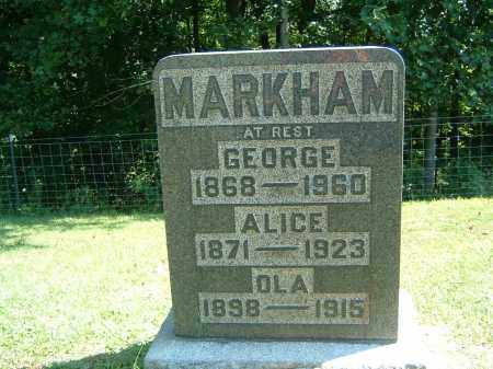 MARKHAM, ALICE - Gallia County, Ohio | ALICE MARKHAM - Ohio Gravestone Photos