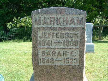 MARKHAM, SARAH E. - Gallia County, Ohio | SARAH E. MARKHAM - Ohio Gravestone Photos