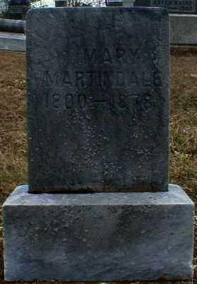 MARTINDALE, MARY - Gallia County, Ohio | MARY MARTINDALE - Ohio Gravestone Photos
