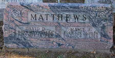 MATTHEWS, DAVID - Gallia County, Ohio | DAVID MATTHEWS - Ohio Gravestone Photos