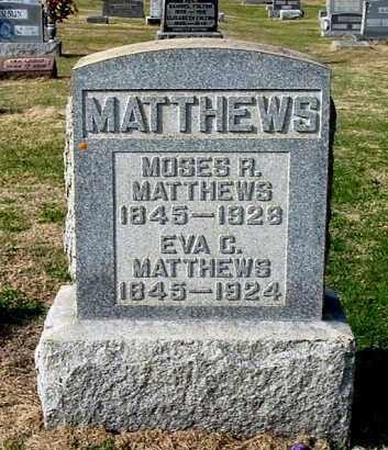 MATTHEWS, MOSES R - Gallia County, Ohio | MOSES R MATTHEWS - Ohio Gravestone Photos