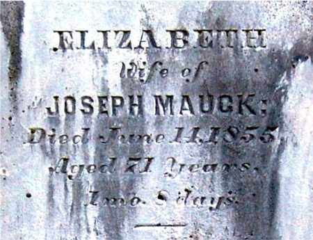 MAUCK, ELIZABETH (CLOSE-UP) - Gallia County, Ohio | ELIZABETH (CLOSE-UP) MAUCK - Ohio Gravestone Photos