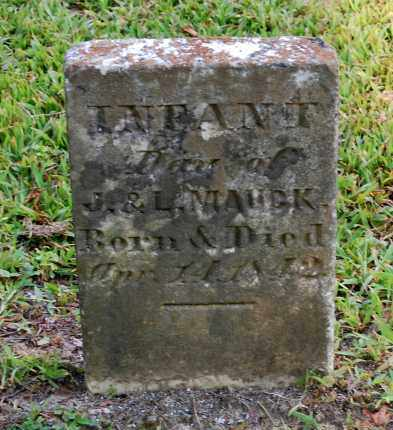 MAUCK, INFANT DAU - Gallia County, Ohio   INFANT DAU MAUCK - Ohio Gravestone Photos