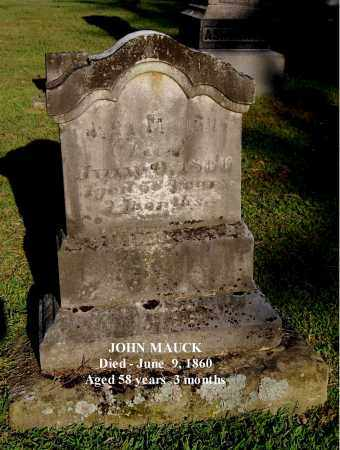 MAUCK, JOHN - Gallia County, Ohio | JOHN MAUCK - Ohio Gravestone Photos