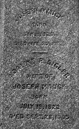 MAUCK, JOSEPH (CLOSE-UP) - Gallia County, Ohio | JOSEPH (CLOSE-UP) MAUCK - Ohio Gravestone Photos