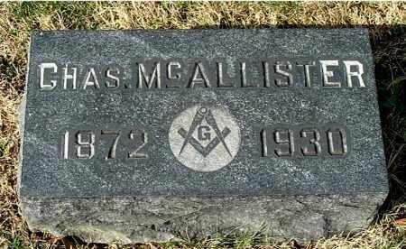 MCALLISTER, CHARLES - Gallia County, Ohio | CHARLES MCALLISTER - Ohio Gravestone Photos