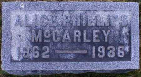 PHILLIPS MCCARLEY, ALICE - Gallia County, Ohio | ALICE PHILLIPS MCCARLEY - Ohio Gravestone Photos
