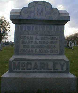 MCCARLEY, SUSAN - Gallia County, Ohio | SUSAN MCCARLEY - Ohio Gravestone Photos