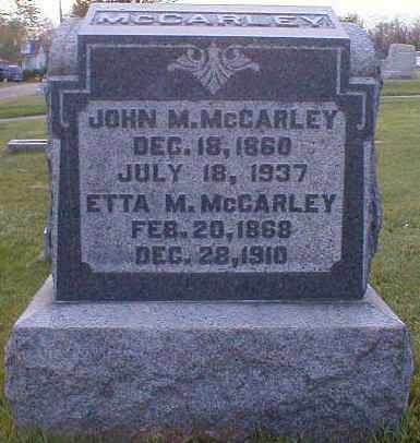 MCCARLEY, ETTA - Gallia County, Ohio | ETTA MCCARLEY - Ohio Gravestone Photos