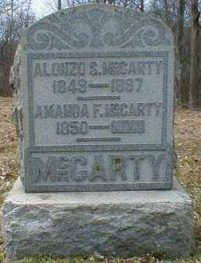 MCCARTY, ALONZO - Gallia County, Ohio | ALONZO MCCARTY - Ohio Gravestone Photos