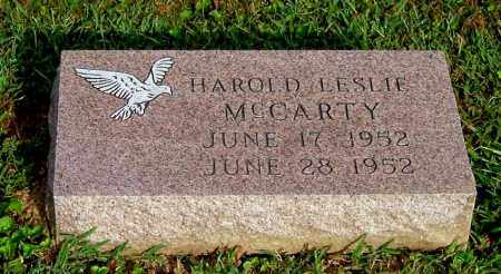 MCCARTY, HAROLD LESLIE - Gallia County, Ohio | HAROLD LESLIE MCCARTY - Ohio Gravestone Photos