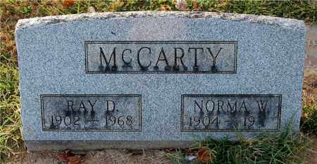 MCCARTY, NORMA W. - Gallia County, Ohio | NORMA W. MCCARTY - Ohio Gravestone Photos