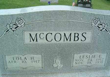 MCCOMBS, LESLIE E. - Gallia County, Ohio | LESLIE E. MCCOMBS - Ohio Gravestone Photos