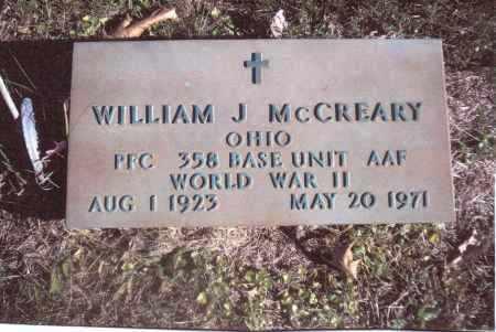 MCCREARY, WILLIAM J. - Gallia County, Ohio | WILLIAM J. MCCREARY - Ohio Gravestone Photos