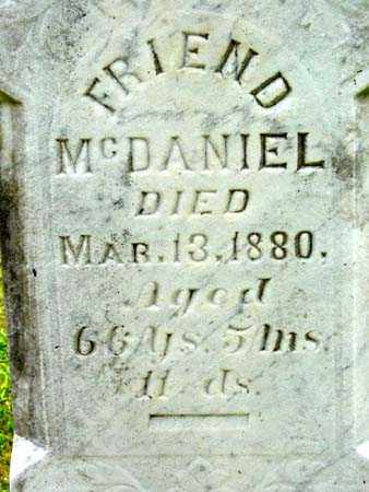 MCDANIEL, FRIEND - Gallia County, Ohio | FRIEND MCDANIEL - Ohio Gravestone Photos
