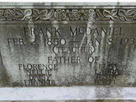 MCDANIEL, FRANK - Gallia County, Ohio | FRANK MCDANIEL - Ohio Gravestone Photos