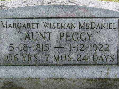 WISEMAN MCDANIEL, MARGARET - Gallia County, Ohio | MARGARET WISEMAN MCDANIEL - Ohio Gravestone Photos