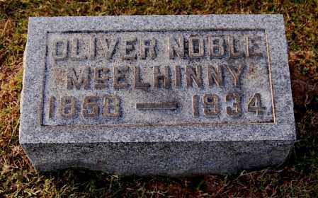 MCELHINNY, OLIVER NOBLE - Gallia County, Ohio | OLIVER NOBLE MCELHINNY - Ohio Gravestone Photos